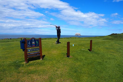 Golf, Field, Scotland, Golfer, Game, One