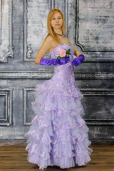 Dress, Lace, Skirt, Shuttlecocks, Folds