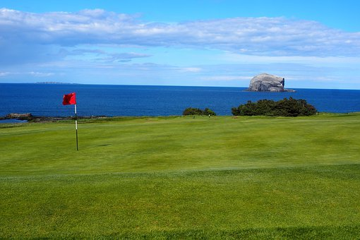 Golf, Scotland, Sky, Sport, Game, The Flag Of The, Sea