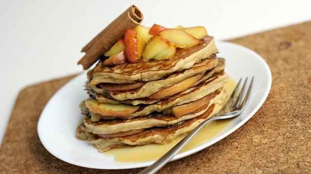 Pancakes, Apple Pancakes, Sweet, Sweets, Dessert, Eat