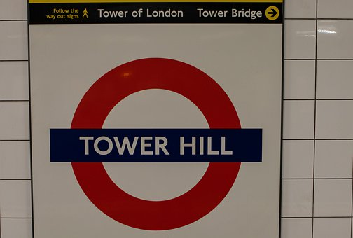 Tower Hill, Tube, London Underground, Metro
