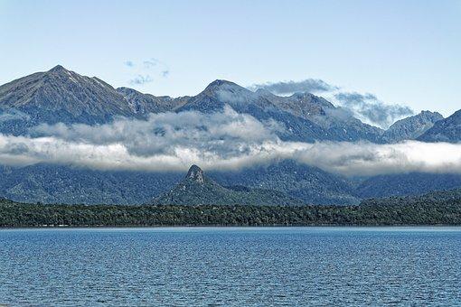 New Zealand, Lake Manapouri, Lake, Water, Mountains