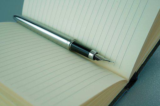 Filler, Note, Notebook, Pen, Write, Paper, Journalist