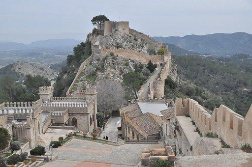 Xativa Castle, Valencia Comunitat, Monument, Wall