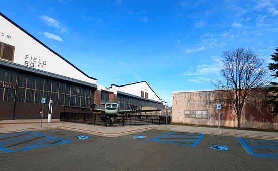 Blue Sky, Museum, Long Island, Airplane, Propellers