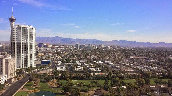 Las Vegas, Skyline, Vegas, America, City