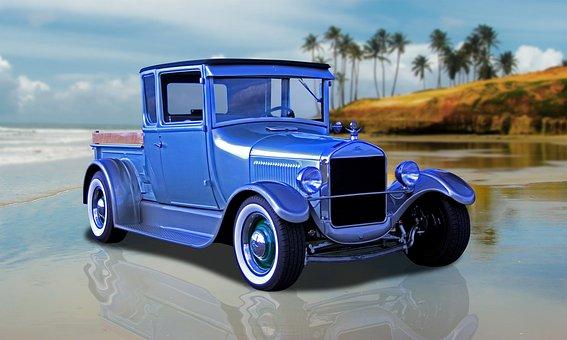Vintage, Truck, Car, Model-t, Vehicle, Automobile, Usa