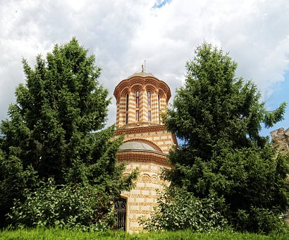 Landscape, Church, Building, The Dome, Trees, Conifers
