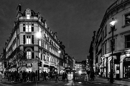 London, England, Uk, City, Urban, Travel, Night, Motion