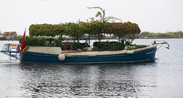 Turkey, Boat, Transport, Decor, Flora