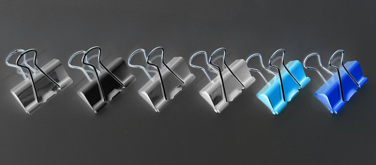 Foldback Clips, Connect, Paperclip, Office, Stationery