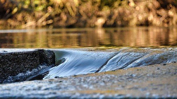 Water, Moret-sur-loing, River, France, Rapids, Torrent