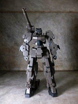 Robot, Armor, Canon, Gun, Weapon, Knife, Movable