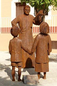 Statue, Image, Metal, Sculpture, The Priest, Mental