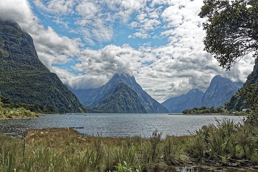 New Zealand, Milford Sound, Fjord, Water, Mitre Peak
