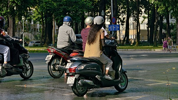 Motorcycle, Traffic, Street, Transport