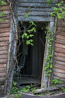 Old Doorway, Barn Wood, Unknown, Old, Psychology, Guard