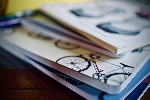 Notebooks, Pens, Office, School, Desk