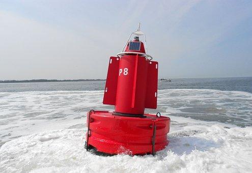 Buoy, Beacon, Warning, Setting Of Buoys, Shipping