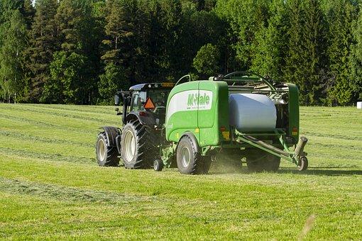 Baler, Tractor, Agriculture, Tractors