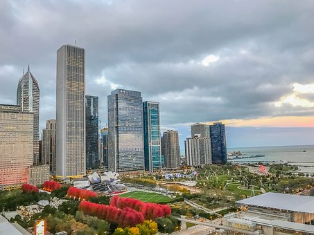 Chicago, City, Architecture, Downtown, Urban, Cityscape