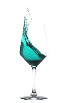 Wine Glass, Splash, Glass, Liquid, Spray, Spill Over