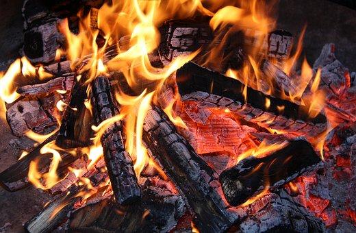 Fire, Embers, Heat, Burn, Flame, Wood
