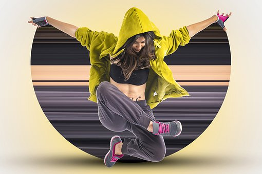 Break Dancer, Hip Hop, Girl, Woman, Youth