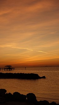 Sunset, Tampa Bay, Apollo Beach, Beach