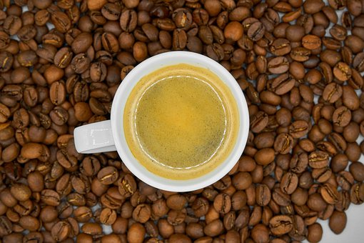 Coffee, Beans, Cup, Brown, Aroma, Close Up, Macro, Food