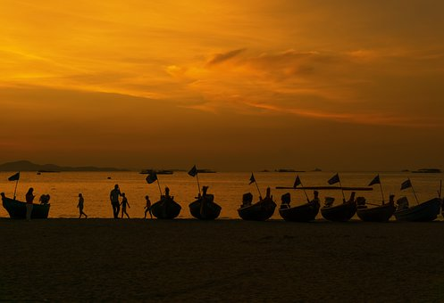 Pattaya, Thailand, Asia, Beach, Sand