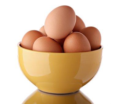 Eggs, Brown, Food, Bowl, Ceramic, Boiled, Cooked