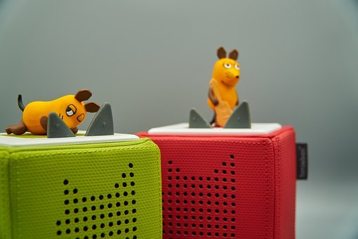 Mouse, Speakers, Radio Play, Children, Box, Toniebox