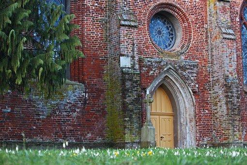 Church, Church Entrance, Spring, Architecture, Chapel