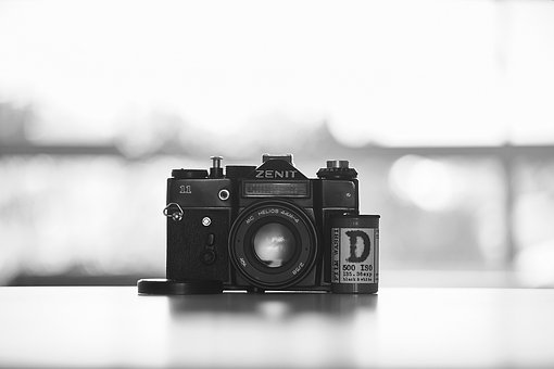 Camera, Gray, Memory, Color, Man, Black, Lens