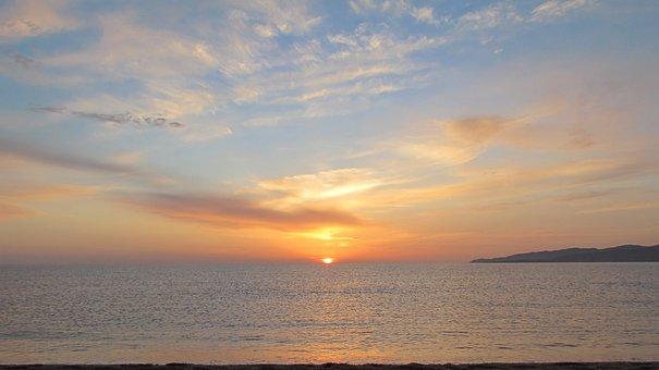 Corsican, Sunset, Mediterranean Sea