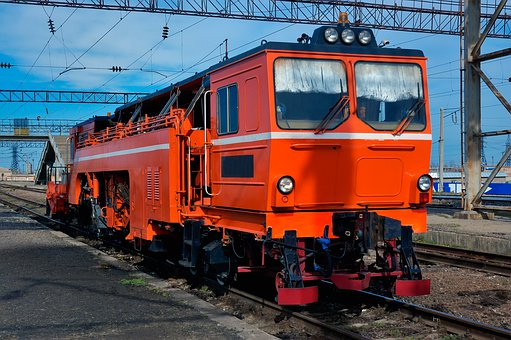 Repairing, Engine, Train, Transport, Transportation