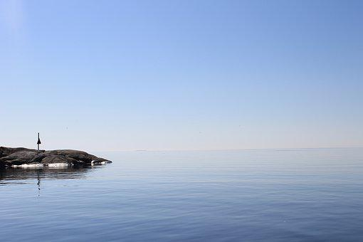 Finland, Archipelago, Sea, Summer, Calm, Islet