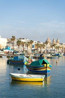 Marsaxlokk, Malta, Port, Fishing Boat