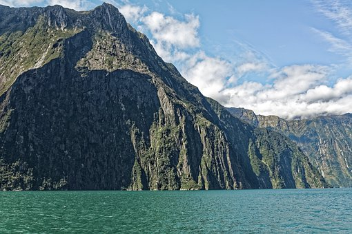 New Zealand, Milford Sound, Fjord, Water, Mountains