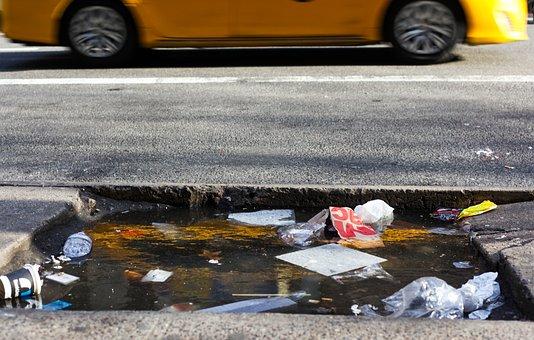 Taxi, New York, Garbage, Street Trash, Wild Garbage