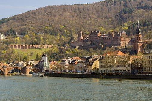 Neckar, Heidelberg, Germany, Europe, River