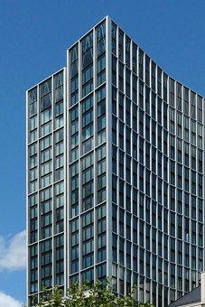 Skyscraper, Ffm, Frankfurt, Glass, Facades, Offices