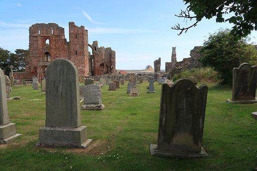 Lindidfarne, Catle, Holy Island, Graveyard, Old Church