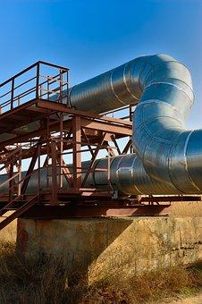 Industry, Pipe, Heat, Steel, Power, Pipeline, Tube