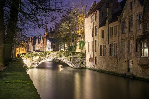 Bruges, Belgium, Historically, City, Channel, Romantic