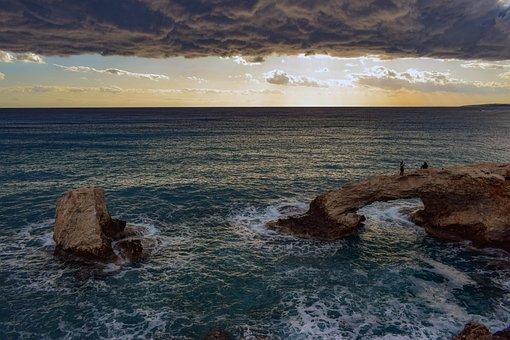Landscape, Sky, Clouds, Horizon, Seashore, Sea