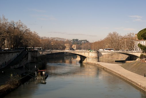 Tiber, Rome, Italy, Bridge, River
