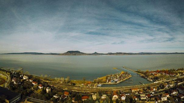 Panorama, Lake Balaton, Fonyód, Lake