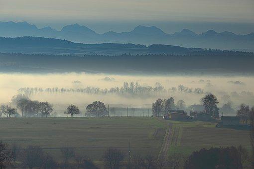 Fog, Haze, Steam, Mood, Landscape, Wide